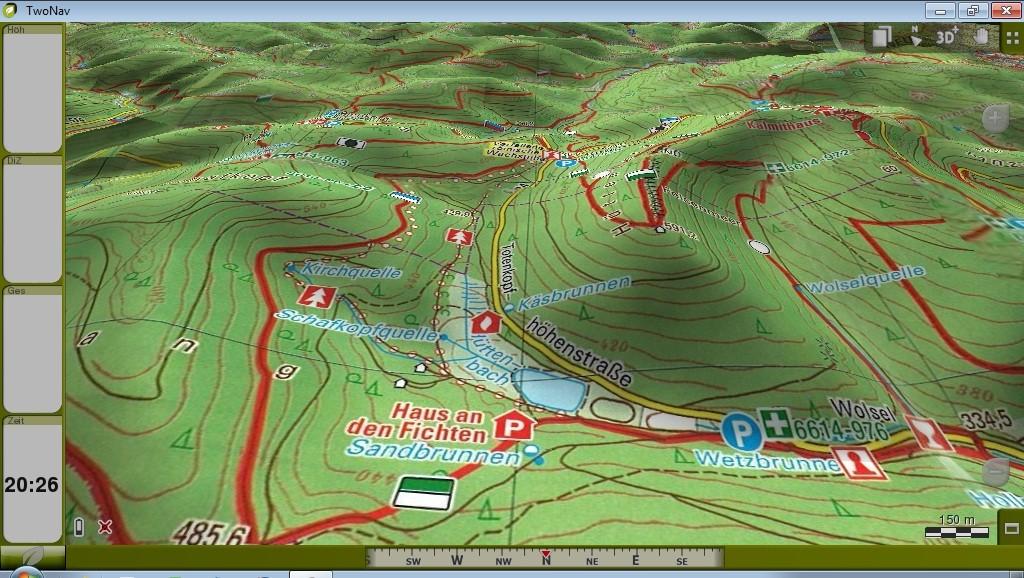 TwoNav Sportiva und PWV Wanderkarten